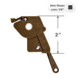 "Wand Tilt Mechanism for High Profile Head Rails with a 1/4"" Square Hole - Brown with Eyelet Shaft"