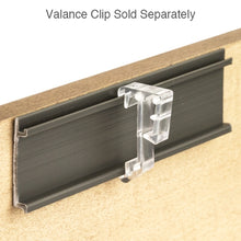 "Load image into Gallery viewer, 1"" Hidden Valance Clip for Wood and Faux Wood Valances - Clear"