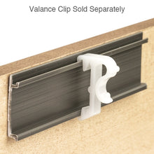 "Load image into Gallery viewer, 1"" Hidden Valance Clip for Wood and Faux Wood Valances - White"