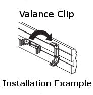 Levolor Twist-Style Valance Clip for Wood Valances
