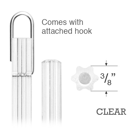 Clear Plastic Tilt Wand 07 - Special Hook