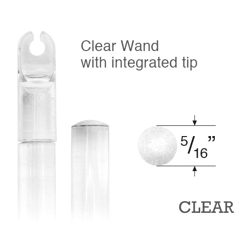 Levolor Clear Plastic Wand with Integrated Tip for Horizontal Blinds