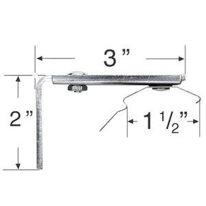 "Mounting Bracket for Outside Mount Vertical Blinds with 1 1/2"" Headrails"