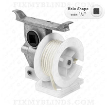 "Load image into Gallery viewer, High Profile Cord Tilter - Large Foot - 1/4"" Square Hole with OFF WHITE Cord (Z-0122)"