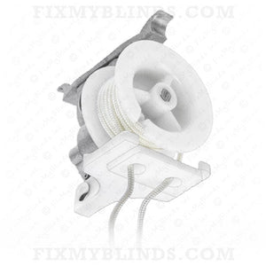 "High Profile Cord Tilter - Large Foot - 1/4"" Square Hole with OFF WHITE Cord (Z-0122)"