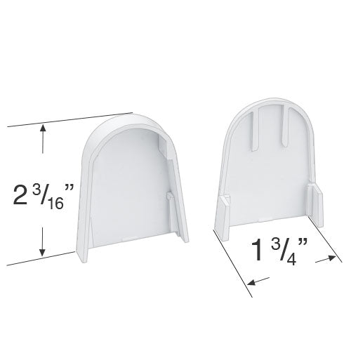 Rollease R-Series Roller Shade Mounting Bracket Covers for R3 and R8 Clutches - RBPC360W