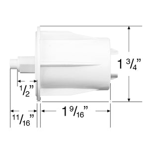 "Rollease Skyline Pin Ends For Roller Shades with 1 11/16"" (43mm) Roller Tubes"
