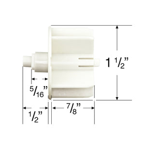 "Rollease Skyline Series Roller Shade Pin End for 1 1/2"" Tubes - SLPEV653W"