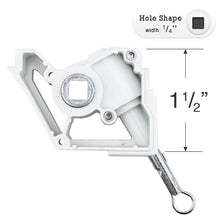 "Load image into Gallery viewer, Bali and Graber Wand Tilt Mechanism for Low Profile Head Rails with a 1/4"" Square Hole"
