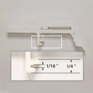Hunter Douglas Valance Clip for PermAlign and PermaTrak Vertical Blinds - Shorter Length