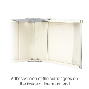 Alta and M&B Return End for Vertical Blinds with Dust Cover Valances