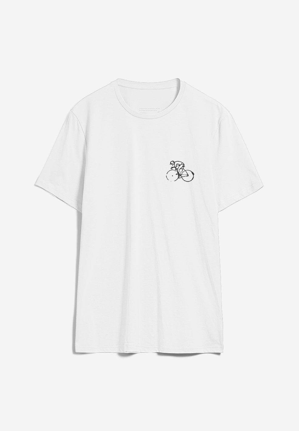 t-shirt jaames bike season white