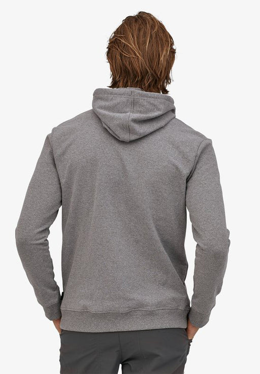 logo ridge uprisal hoodie gravel heather