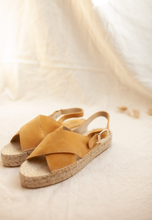 crossed flat espadrilles