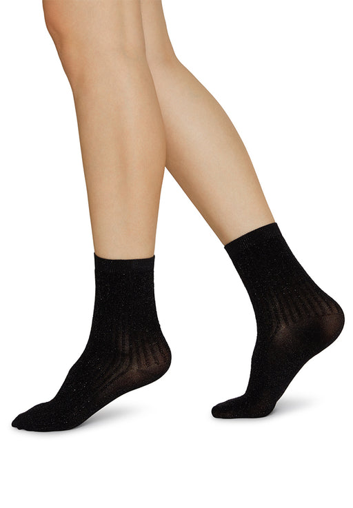 stella shimmery socks black