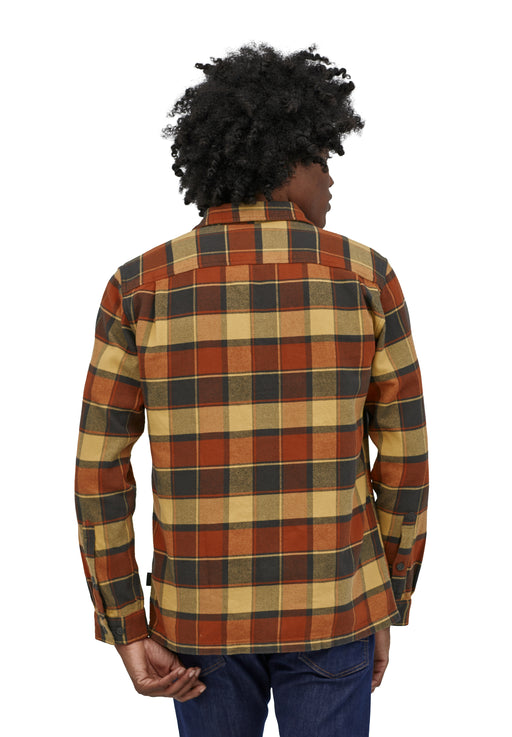 long-sleeved fjord flannel shirt burnished red