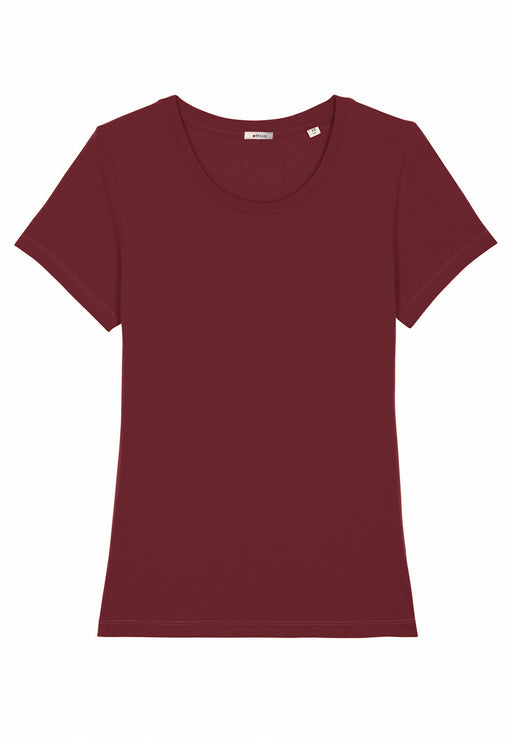 t-shirt tailliert bordeaux