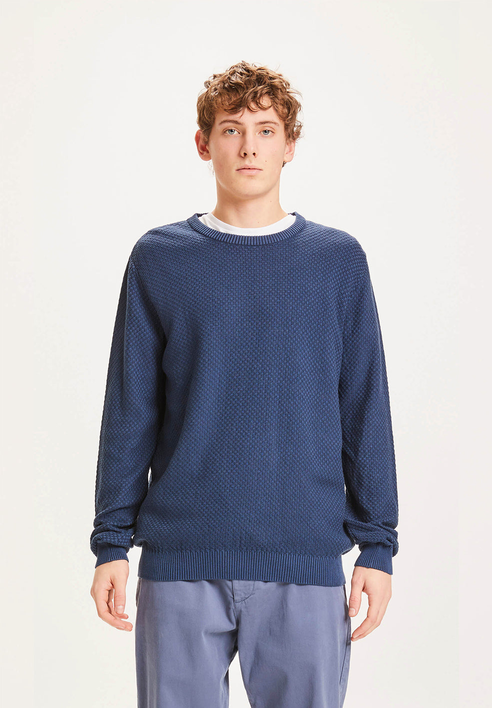 pullover field structured basic dark denim