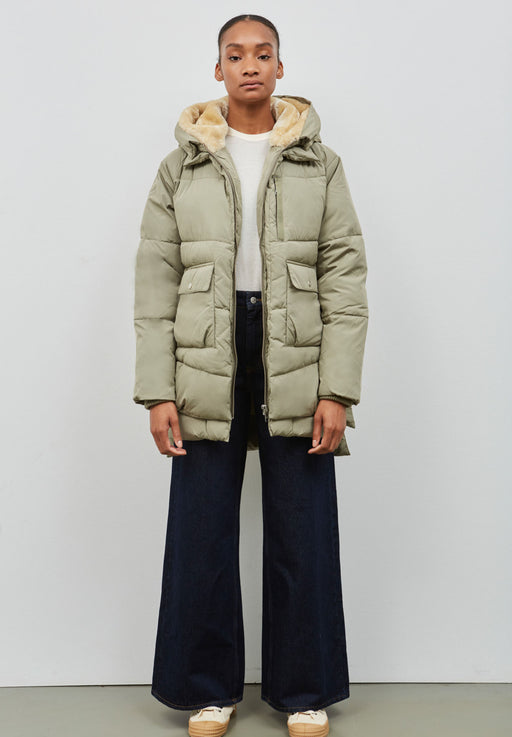 lyndon puffer jacket pale olive