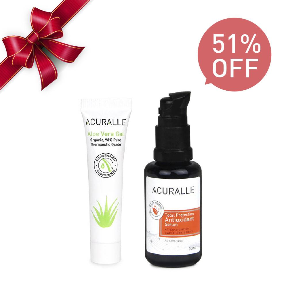 Acuralle Total Protection Antioxidant Serum + Aloe 10ml