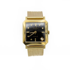 Altanus Gold Watch with Square Black Dial
