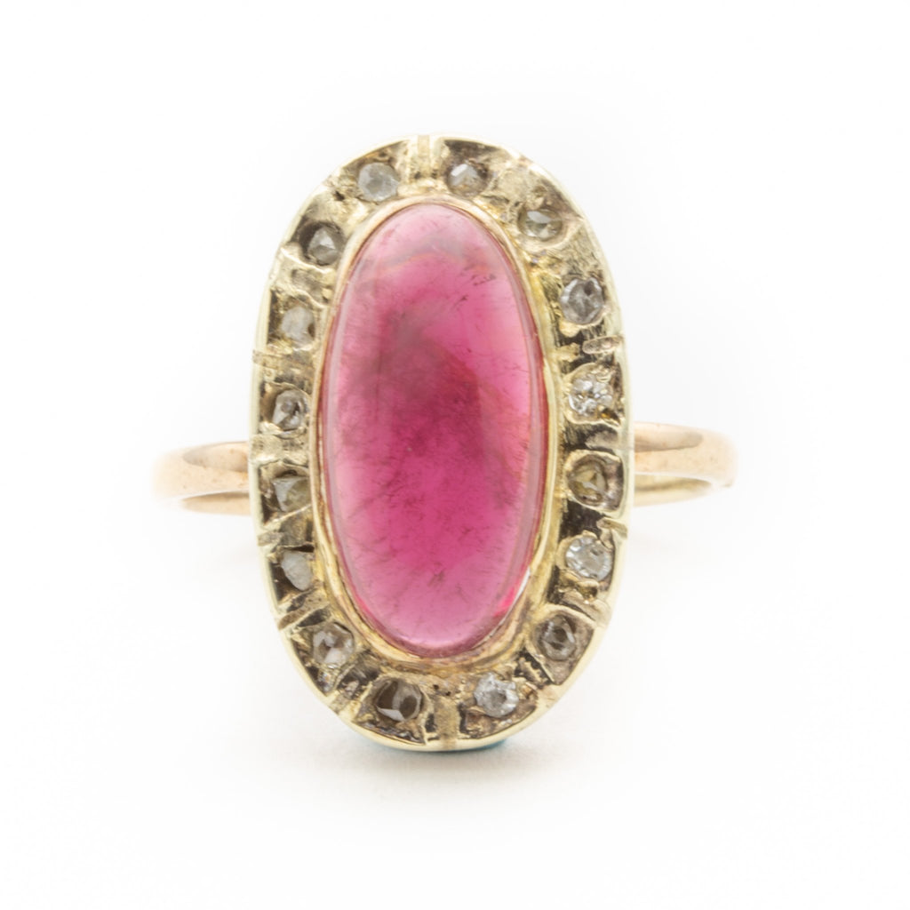 Antique Pink Rubellite Tourmaline Ring
