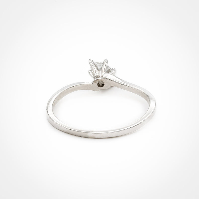 Oblique Set Marquise Diamond Ring