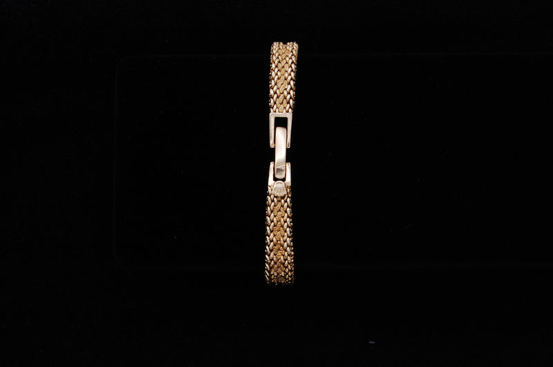 Rolex Bracelet Watch with Mesh Band & Faceted Crystal