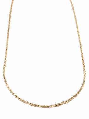 14 Karat Solid Gold Rope Chain