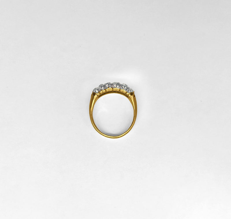 Double Row Band Style Diamond Ring