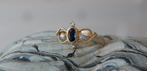 Delicate Sapphire and Diamond Ring