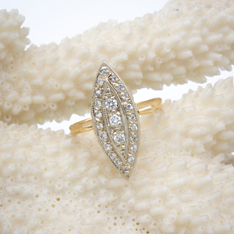 Navette Diamond Cluster Ring