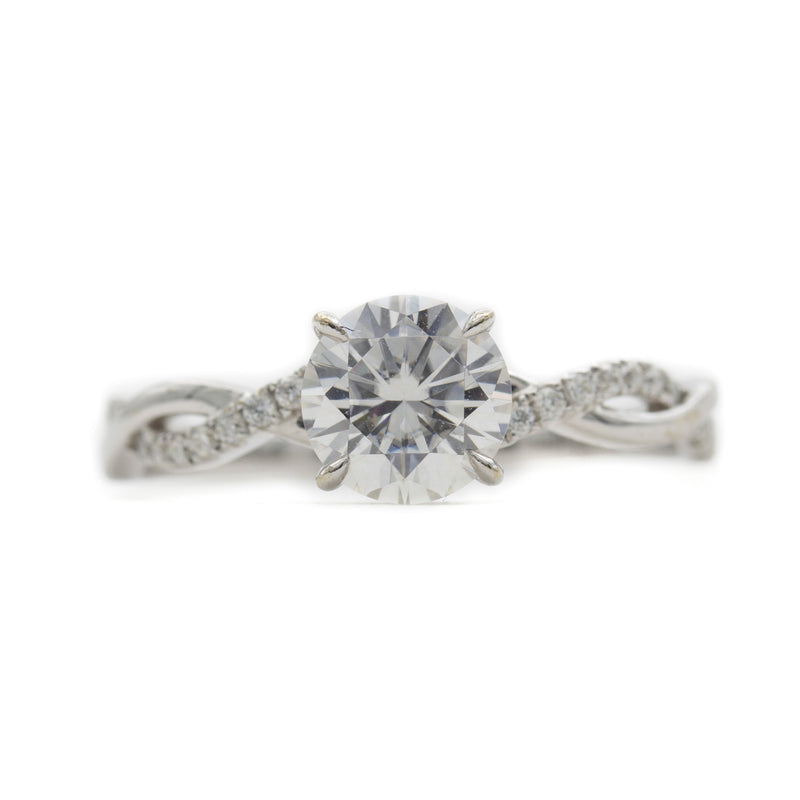 Twisted Vine Moissanite Ring