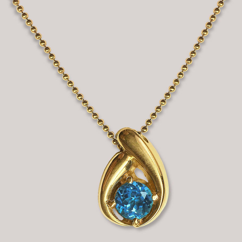 Blue Topaz Mother & Child Pendant
