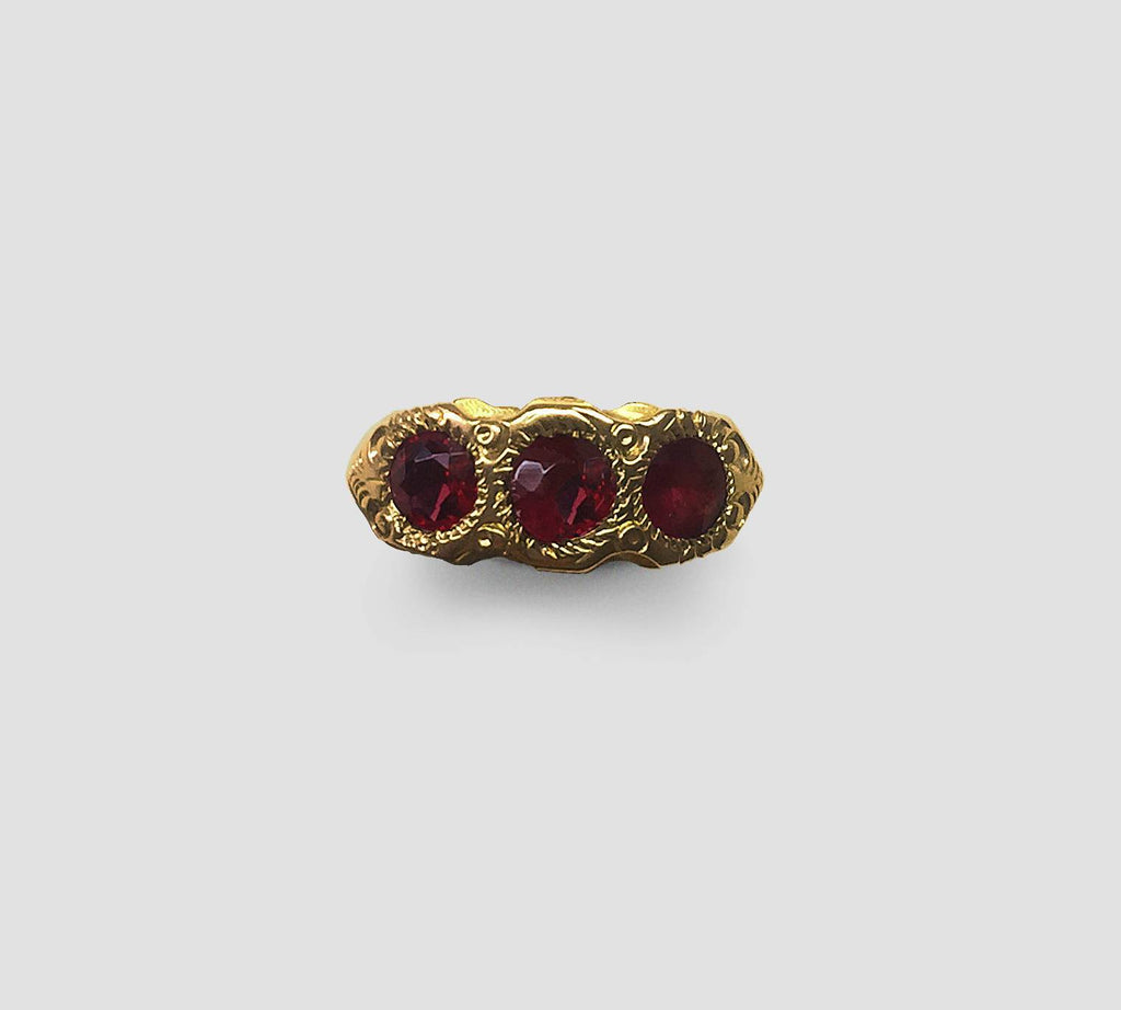 Ruby Ring with Ruby Doublets
