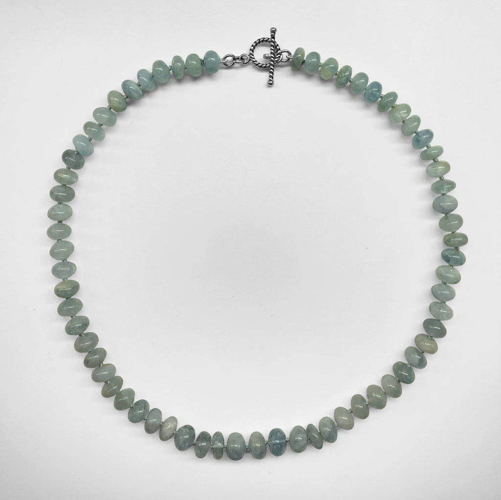 Aquamarine Rondelle Necklace