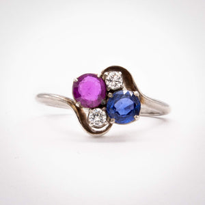 Diamond and Corundum Ring
