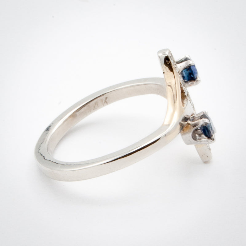 Sapphire and Diamond Bar Ring