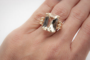 Golden Beige Labradorite Ring