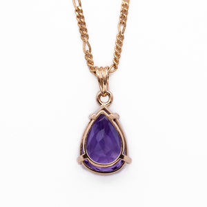 Pear-shaped Amethyst Pendant