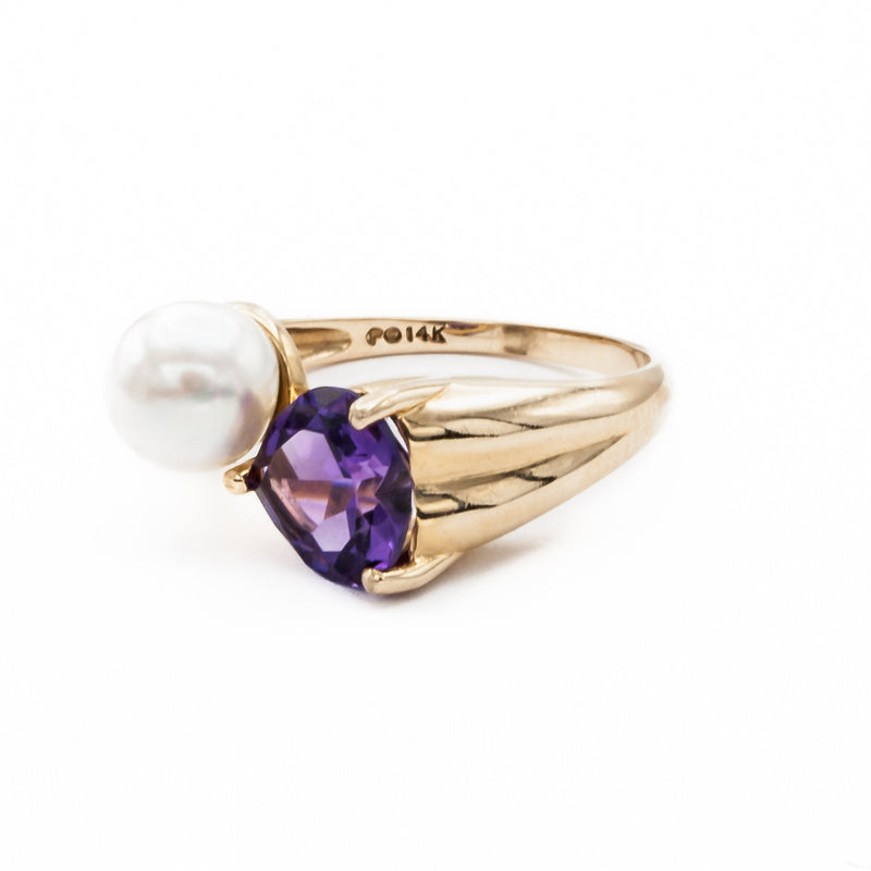 Pearl and Amethyst Ring