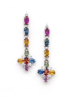 Shades of Sapphires Pendant Earrings