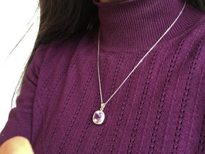 Classic Amethyst Pendant Necklace