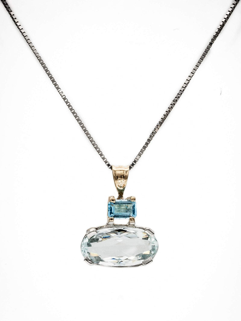 Aquamarine and Blue Topaz Pendant