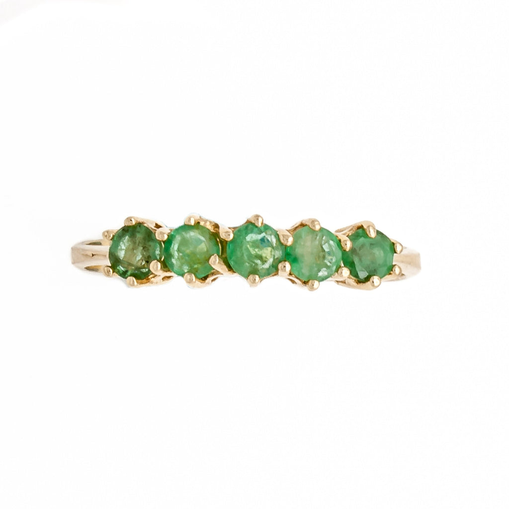 Quinary Emerald Ring