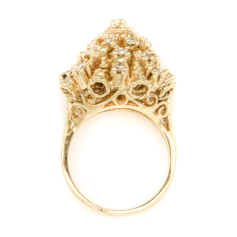 Vintage Diamond Thai Princess Ring