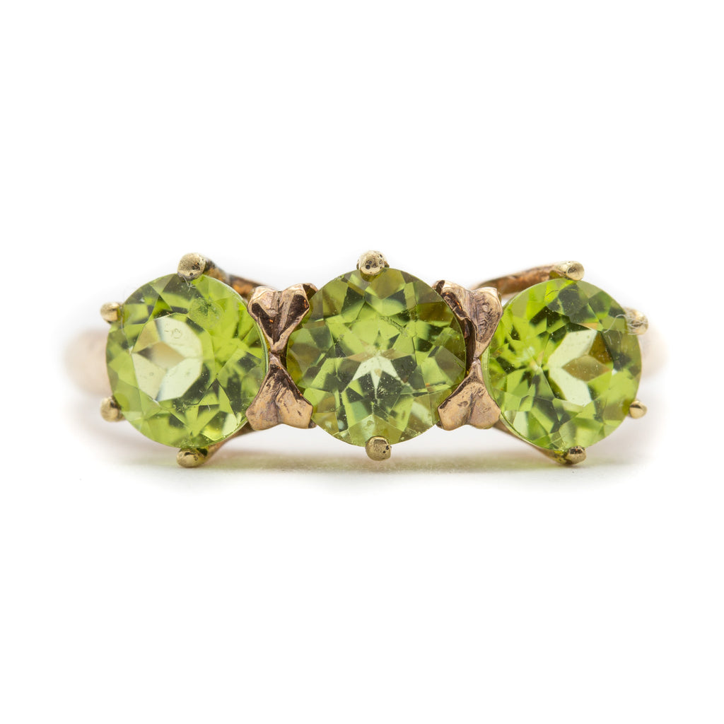 Peridot Ring in Pink Gold