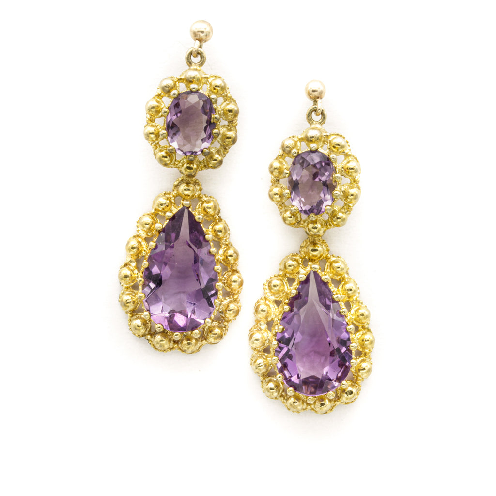 Amethyst Pendant Earrings