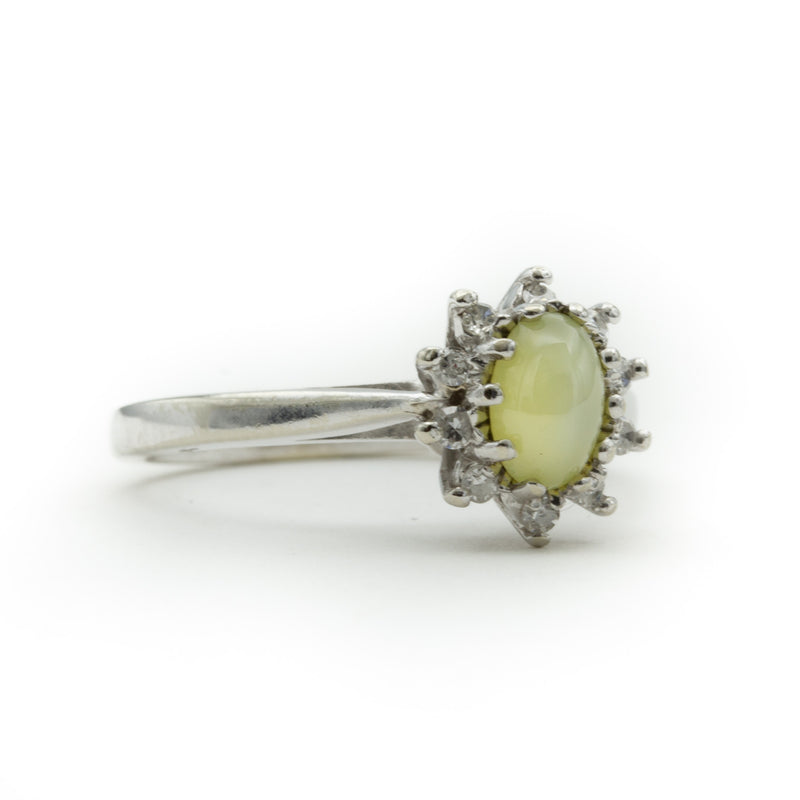 Mint Green Linde Star Sapphire Ring