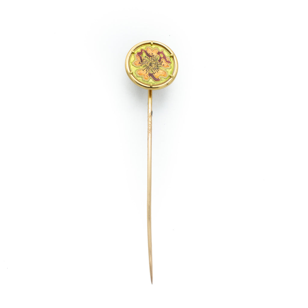 Floral Tie Stick Pin